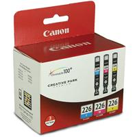 Canon CLI-226 Cyan/Magenta/Yellow Ink Cartridges, 3 Pack