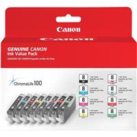 Canon CLI-8 8-Colors Multi Pack Ink Kit for Pro9000, Pro9...