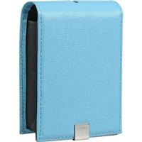 Canon PSC-1000 Deluxe Light Blue Pink Leather Case for Po...