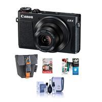 Canon PowerShot G9 X Ultra Slim Digital Camera, Black - B...