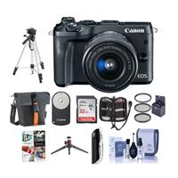 Canon EOS M6 Mirrorless Digital Camera Black with EF-M 15...