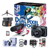 Canon EOS M6 Mirrorless Camera Video Creator Kit w/EF-M 1...