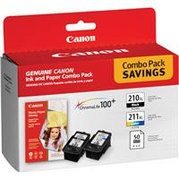 Canon Combo Value Pack with PG210XL Extra Large Black Ink...
