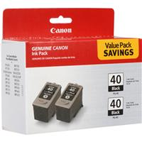 Canon Twin Pack PG-40 Black Ink Cartridges for Many Pixma...