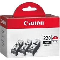 Canon Combo Triple Pack of PGI-220BK Black Ink Tanks for ...