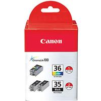Canon Black & Color Ink Value Pack, for Pixma iP100 & iP1...