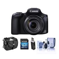 Canon PowerShot SX60 HS Digital Camera - Bundle With Camera Case, 16GB Class 10 Sdhc Card, Cleaning KIT, Card Reader
