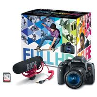 Canon EOS Rebel T6i Video Creator Kit - with EF-S 18-55mm...