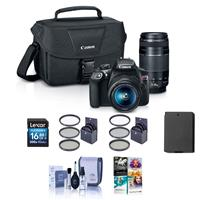 Canon EOS Rebel T6 DSLR 2 Lens Camera Kit with EF-S 18-55...