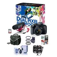 Canon EOS Rebel T7i DSLR Video Creator Kit with EF-S 18-5...