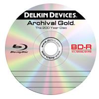 Delkin 6x BD-R Archival Gold Blu-ray Recordable Disc, 10 ...