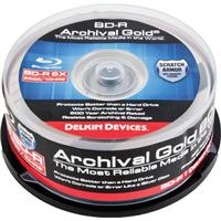 Delkin 6x BD-R Archival Gold Blu-ray Recordable Disc, 25 ...
