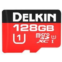 Delkin 128GB microSDXC 500X UHS-I U1 Memory Card with SD ...
