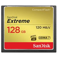Sandisk 128GB Extreme Compact Flash Memory Card, - Transfer Speed UP To 120MB/S