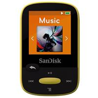 Sandisk 8GB Clip Sport MP3 Player, 1.44 LCD Display, Yellow