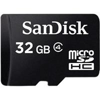Sandisk 32GB microSDHC, Class 4 Memory Card with SD Adapter