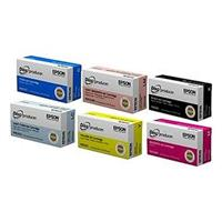 Epson 6 Color Ink Cartridge Set for PP-100 DiscProducer B...