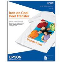 "Epson Iron-On Transfer Inkjet Media, 8.5x11"", 10 Sheets"