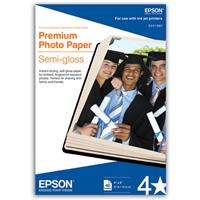 "Epson 2X Premium SEMI-GLOSS Photo Inkjet Paper, 10 MIL., 4X6"", 40 Sheets"