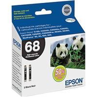 Epson T068120-D2 68 Dual Pack High Capacity Ink Cartridge...