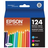 Epson T124120 Moderate Capacity Multipack (CMY) Ink Cartr...