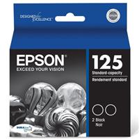 Epson T125120-D2 125 Dual Pack Black Ink Cartridges for S...