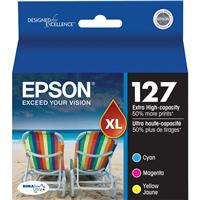 Epson T127520 127 Extra High-Capacity Color Multipack Ink...
