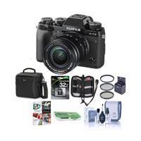 Fuji X-T2 Mirrorless Digital Camera with 18-55mm Lens - B...