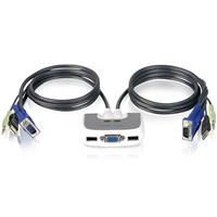 Iogear 2-PORT Compact Miniview Micro USB Plus KVM Switch With Audio & 6' Cable