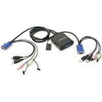 Iogear 2-Port USB Cable KVM Switch with Audio and Microphone