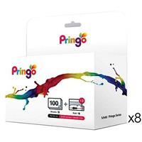 "HITI 8-Pack of PS-100 100-Sheets 2x3.4"" Media for Pringo ..."