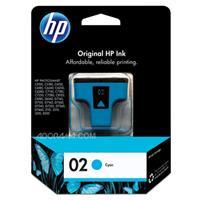 HP # 02 Cyan Ink Cartridge for many Photosmart Inkjet Pri...
