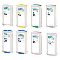 HP 70 130 ml Vivera Ink Cartridge Bundle for Various Desi...