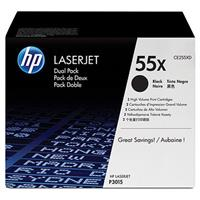 HP CE255XD Black Dual Pack LaserJet Toner Cartridges