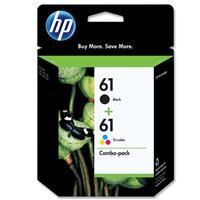 HP 61 Ink Cartridge Combo Pack, Cyan, Magenta, Yellow, Black