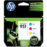 HP 951 Officejet Cyan/Magenta/Yellow Ink Cartridge Combo ...
