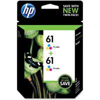 HP 61 Tri-Color Original Ink Cartridge, Pack of 2