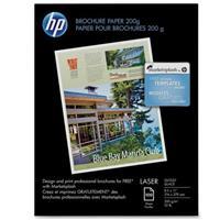 "HP Q6608A Color Laser Glossy Brochure Paper, 8.5x11"", 100..."
