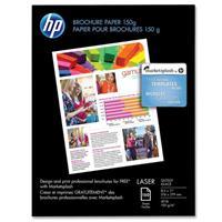 HP Glossy, Dual Sided Brochure & Flyer laserjet Paper, 5 ...