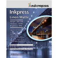 Inkpress Linen Matte Single Sided Bright White Textured W...
