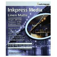 Inkpress Media Linen Matte Inkjet Photo Paper, 200gsm, 10...