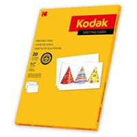 Kodak Greeting Cards - 20 Cards and Envelopes, White (Wit...