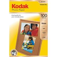 """Kodak Photo Gloss Inkjet Paper, 4x6"""", 100 Sheets."""