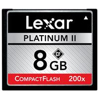 Lexar 8GB, 200x Platinum II High Speed Series, Compact Flash Memory Card