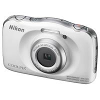 Nikon Coolpix W100 Point & Shoot Camera, White