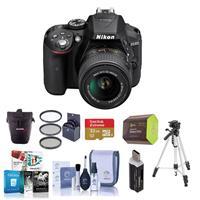 Nikon D5300 24.1MP DX-Format Digital SLR Camera with AF-S...