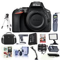 Nikon D5600 Digital SLR Camera Body, Black - Bundle With ...