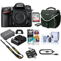 Nikon D7200 DX-FORMAT Digital SLR Camera Body, - Bundle With Camera Case, 16GB Class 10 Sdhc Card, Cleaning KIT, Flexpod Pro Gripper Tripod, Memory Card Case, PC Software Package