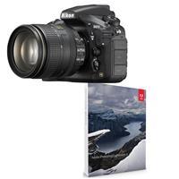 Nikon D810 Digital SLR KIT With AF-S Nikkor 24-120MM F/4G ED VR Lens - With Adobe Photoshop Lightroom 6 Software