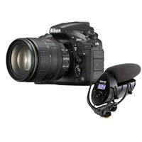 Nikon D810 Digital SLR KIT With AF-S Nikkor 24-120MM F/4G ED VR Lens - Bundle With Shure VP83F Lenshopper CAMERA-MOUNT Condenser Microphone